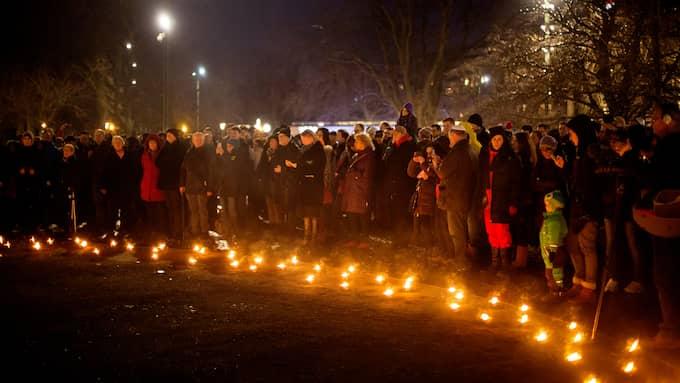 Kippavandring och -manifestation efter dåden i Köpenhamn. Foto: SANNA DOLCK