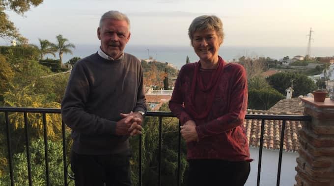 Gary och Eva Henriksson bor numera i Fuengirola i Spanien. Foto: PRIVAT