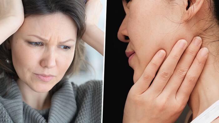 ont i käken vid förkylning