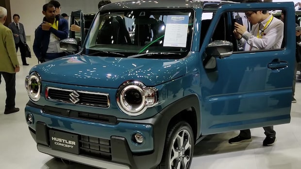 Bakom kulisserna på bilsalongen i Tokyo