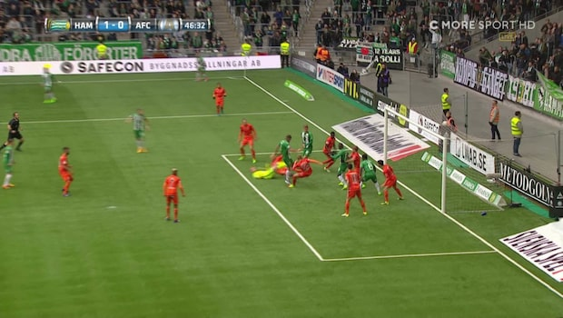 Paulsen vräker in 1-0 för Hammarby
