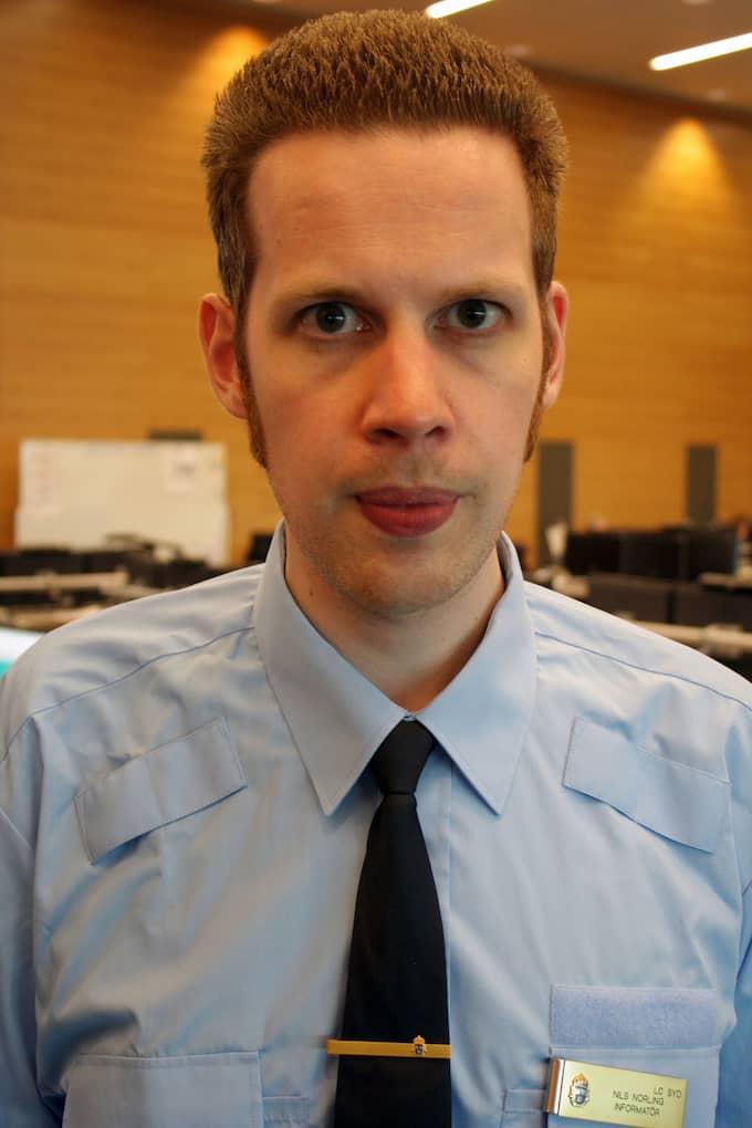 Nils Norling, pressinformatör vid Malmöpolisen. Foto: POLISEN