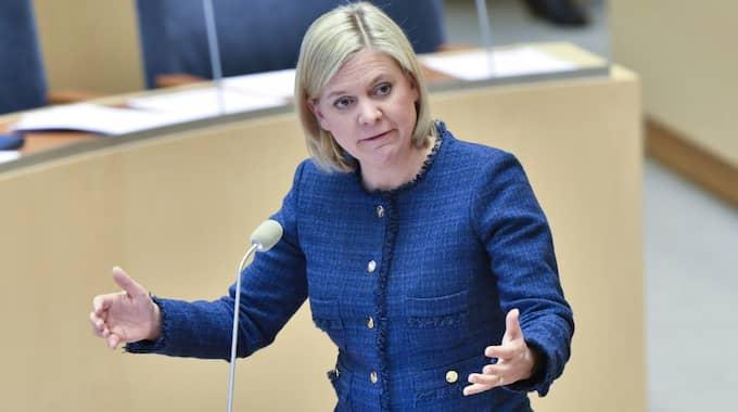 Finansminister Magdalena Andersson (S) som viftar bort kritiken från Finanspolitiska rådet. Foto: Jonas Ekströmer/Tt / TT NYHETSBYRÅN