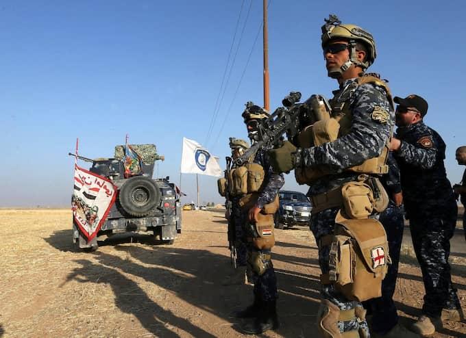 De irakiska truppförflyttningarna oroar kurderna. Foto: MOHAMED MESSARA / EPA / TT / EPA TT NYHETSBYRÅN