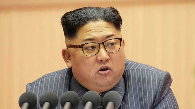 Nordkoreas ledare Kim Jong-Un. Foto: AFP KCNA VIA KNS