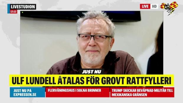 Ulf Lundell åtalas för grovt rattfylleri