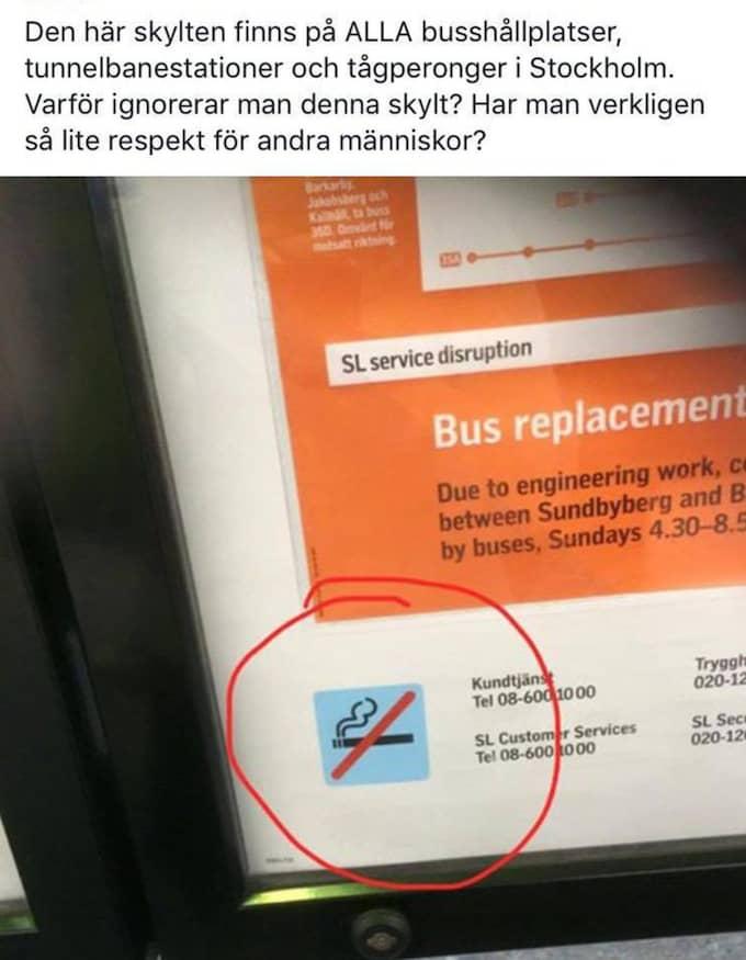 En av flera upprörda resenärer i sociala medier. Foto: Privat/Skärmdump Facebook