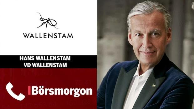 """Wallenstam: """"Vi följer vår plan"""""""