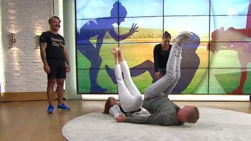 Maria Forsblom och Jesper Börjesson. Foto: TV4
