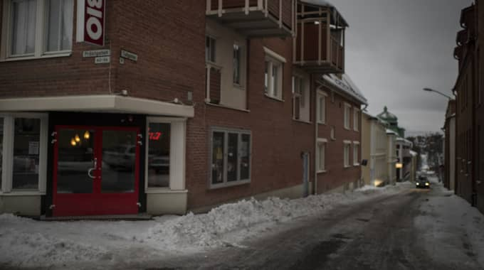 Korsningen Prästgatan/Tullgatan där en kvinna blev utsatt för ett våldtäktsförsök av tre män natten lördag och söndag. Foto: Meli Petersson Ellafi