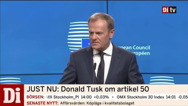 Donald Tusk efter Brexit-ansökan