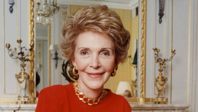 Nancy Reagan. Foto: Daily Mail/Rex/Shutterstock