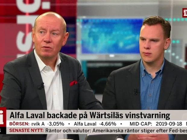 Alfa Laval backade på Wärtsiläs vinstvarning