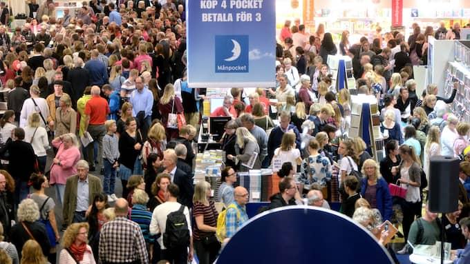 Höstens bokmässa i Göteborg bojkottas redan av många kulturpersonligheter. Foto: FREDRIK SANDBERG/TT / TT NYHETSBYRÅN
