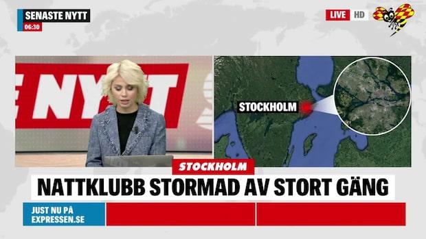 Nattklubb stormad i Stockholm