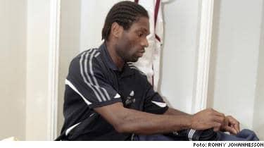 """""""TRIST"""". Samuel Wowoah höll låg profil om det inträffade efter matchen. """"Det är något Hif får ta tag i."""""""