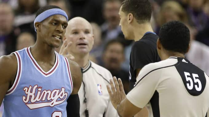 Rajon Rondo går till verbal attack. Foto: Rich Pedroncelli