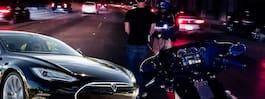 Greps för rattfylla – hävdar att Teslan körde av sig själv