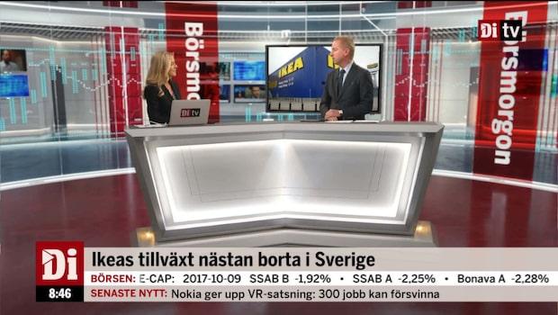 Ikeas tillväxt nästan borta i Sverige