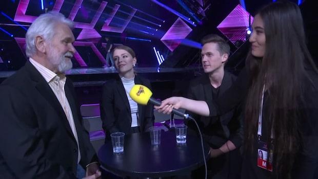 Programledarna i Melodifestivalen i intervju