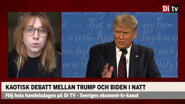 Kaotisk debatt mellan Trump och Biden i natt