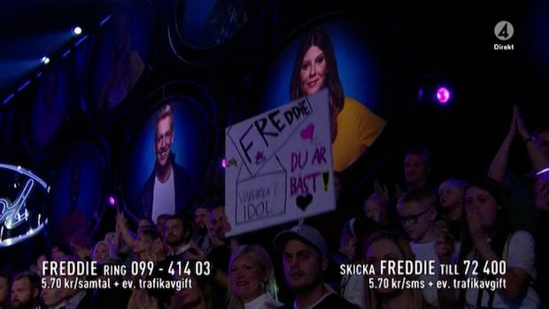 Freddies framträdande hyllas av idoljuryn