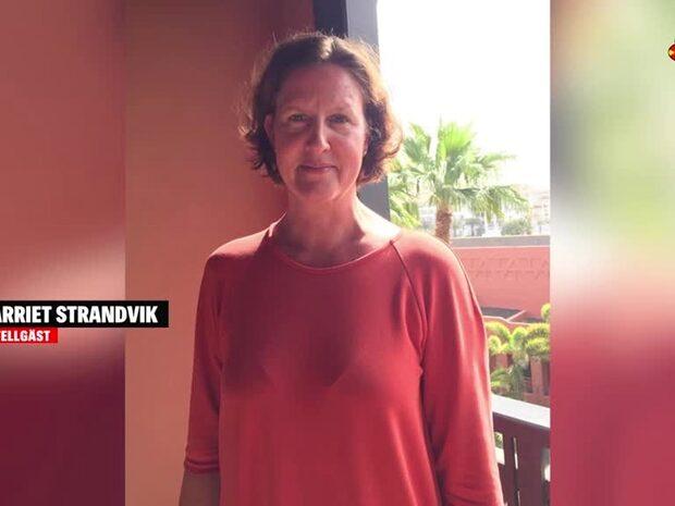 Harriet Strandvik är en av hotellgästerna som är fast i karantän