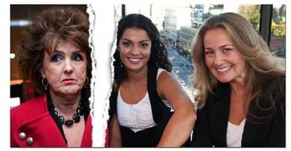 """""""Förkvälls"""" programledare Carin da Silva och Yvonne Ryding är besvikna över att Elisabet Höglund valt att föra kritiken via media Foto: Tommy Pedersen"""