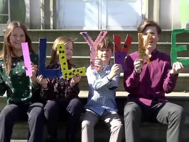 Barnbarnens fina hälsning till drottning Margrethe på 80-årsdagen