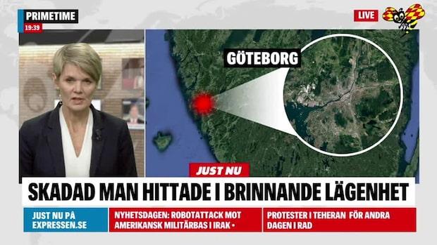 Skadad man hittad i brinnande lägenhet i Göteborg