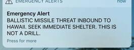 Hawaii skickade ut missilvarning – av misstag