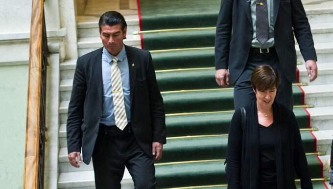 Mona Sahlin och livvakten Hernando Labbé Solinas får strafföreläggande. Foto: Christian Örnberg