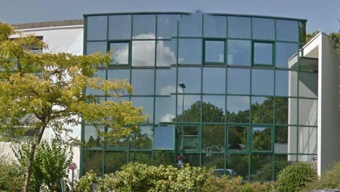 Biotrial i Rennes, där testerna gjordes. Foto: Google Street view