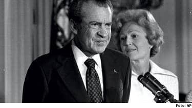 Nixon tvingades avgå efter att Watergate-skandalen avslöjats 1974.
