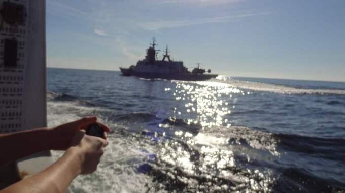 Den svenska forskaren Karin Wesslander var ombord på Aranda när de ryska fartygen närmade sig i september. Foto: Karin Wesslander