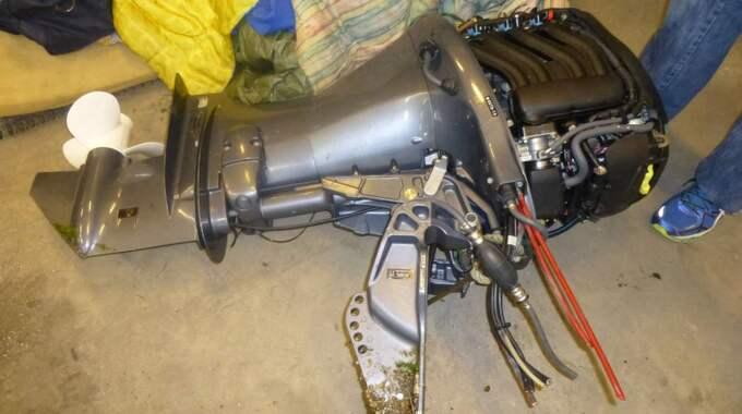 Leifs båtmotor befinner sig fortfarande i polisens förvar. Foto: Polisen