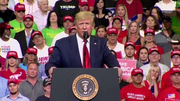 Trumps valkampanj inledd i Orlando - går åt hårt mot sina motståndare