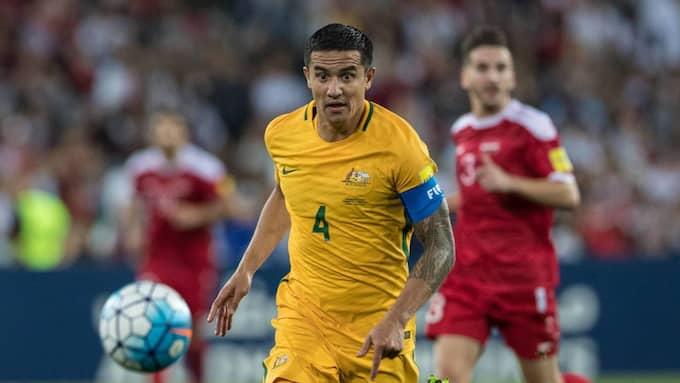 Tim Cahill blev hjälte för sitt Australien när de besegrade Syrien i VM-kvalet Foto: PETER DOVGAN / IMAGO/UK SPORTS PICS LTD IMAGO SPORTFOTODIENST
