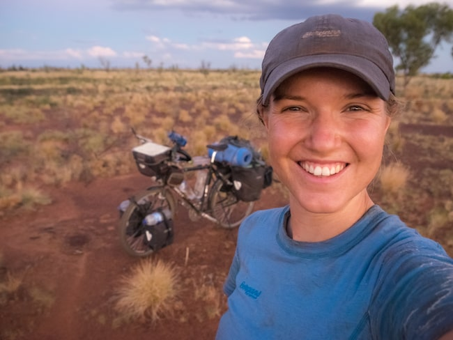 Fredrika Ek, 25, har cyklat 4 000 mil.