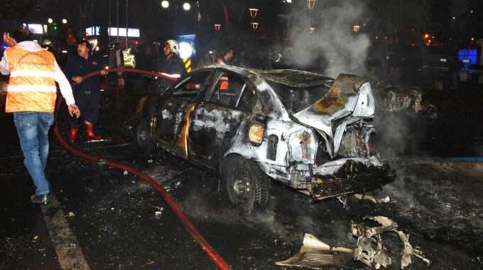 Explosionen skedde vid en stor bussterminal i staden. Foto: Str / Epa / Tt