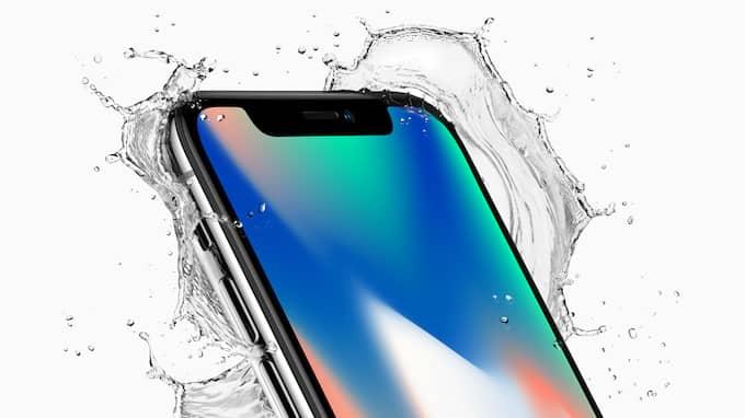 Nya Iphone X har inte kvar den klassiska hemknappen och har glas både fram och bak för att skydda mot bland annat vatten och damm. Foto: APPLE / POLARIS / APPLE / POLARIS POLARIS IMAGES
