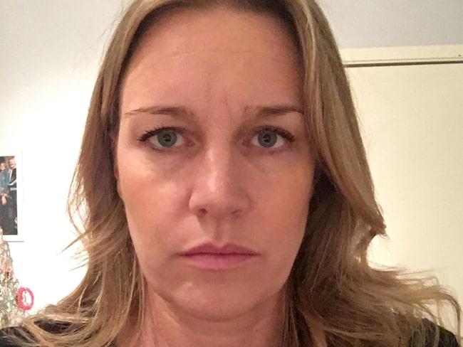 Cecilia Holmbergs besvikelse när resan blev inställd.