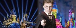 Kolla in magiska julen på Harry Potter-landet