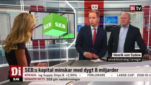 SEB:s kapital minskar med drygt 8 miljarder