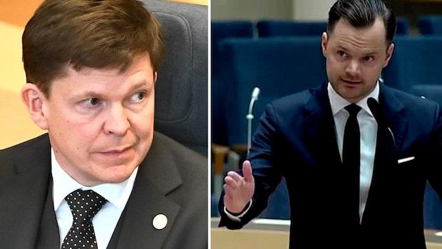 Hätskt bråk i riksdagen – SD-politikern läxas upp av talmannen
