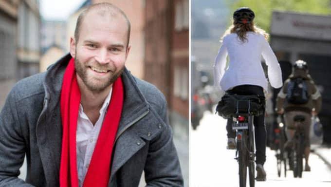 Ett hjälmtvång skulle medföra att färre valde att cykla. Men att cykla är 20 gånger nyttigare än att inte cykla, även om man räknar in olyckor och luftföroreningar, skriver Lars Strömgren. Foto: Hanna Mi Jakobsson och Janerik Henriksson/TT