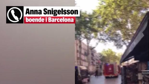 """Svenska Anna bor i Barcelona: """"Fullständigt kaos"""""""