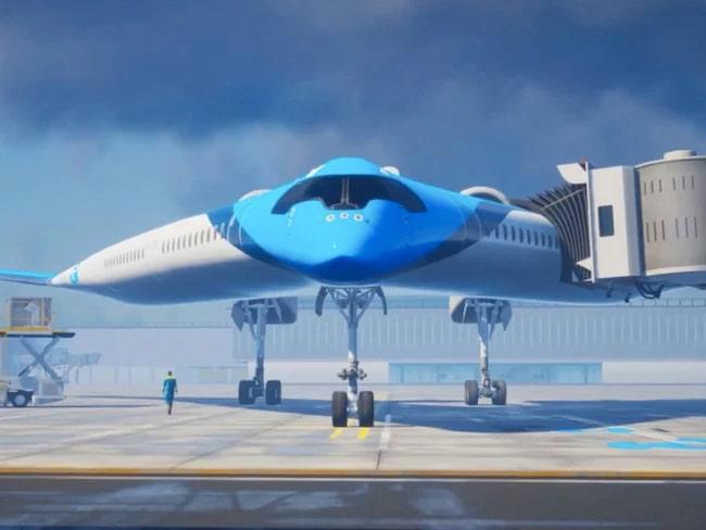 """Passagerarna är placerad i """"vingarna""""."""