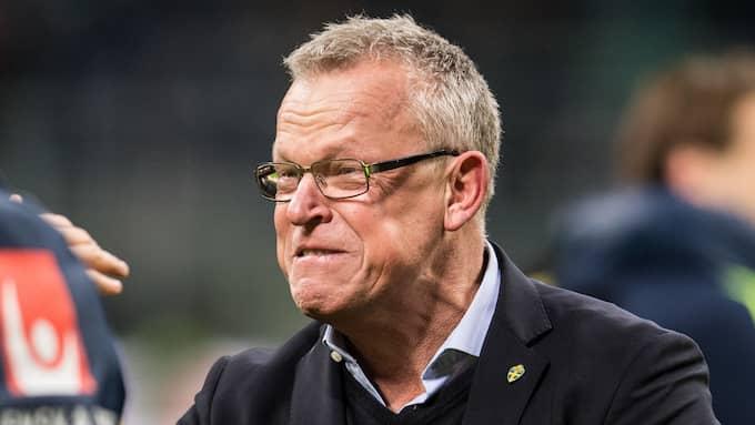 Janne Andersson efter Sveriges avancemang till VM. Foto: PETTER ARVIDSON / BILDBYRÅN