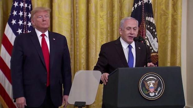 Trumps fredsplan fördöms av Palestina